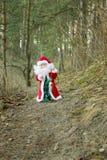 Święty Mikołaj w lesie Zdjęcia Stock
