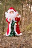 Święty Mikołaj w lesie Zdjęcie Stock
