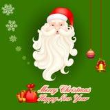 Święty Mikołaj w Wesoło bożych narodzeniach ilustracji