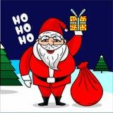 Święty Mikołaj wektoru ilustracja ilustracja wektor