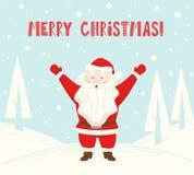 Święty Mikołaj wita someone scandinavian karta Boże Narodzenia i nowego roku charakter royalty ilustracja