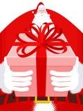 Święty Mikołaj wysoki Duży Ogromny Bożenarodzeniowy dziad Ogromny Santa ilustracja wektor