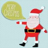Święty Mikołaj z bąbel mową. Obraz Royalty Free
