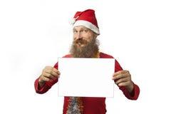 Święty Mikołaj z biały pustym miejscem Obraz Stock