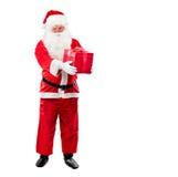 Święty Mikołaj z Bożenarodzeniowym prezentem zdjęcia stock