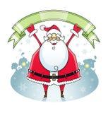 Święty Mikołaj z faborkiem royalty ilustracja