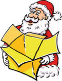 Święty Mikołaj z giftbox Fotografia Stock