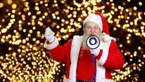 Święty Mikołaj z megafonem zdjęcie wideo