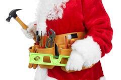 Święty Mikołaj z narzędziowym paskiem Zdjęcie Royalty Free