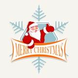 Święty Mikołaj z płatkiem śniegu Fotografia Royalty Free