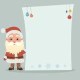 Święty Mikołaj z plakatem Fotografia Royalty Free
