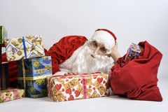 Święty Mikołaj z teraźniejszość Obrazy Royalty Free