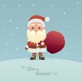 Święty Mikołaj z torbą Zdjęcia Royalty Free