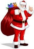 Święty Mikołaj Z Torbą Teraźniejszość Dla Bożych Narodzeń Obraz Royalty Free