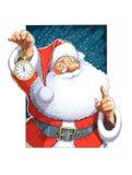Święty Mikołaj Z zegarem Obrazy Royalty Free