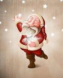 Święty Mikołaj zbiera gwiazdy ilustracji