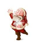 Święty Mikołaj zbiera gwiazdy royalty ilustracja