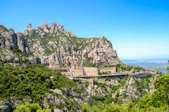 Święty monaster Montserrat Zdjęcia Royalty Free