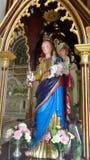 Święty Nasz damy rzeźba w kościół katolickim Zdjęcie Stock