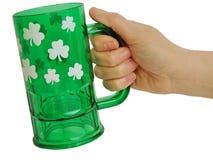 święty Patrick szkła Zdjęcia Stock