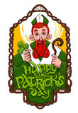 Święty Patrick wśrodku drewnianej ramy Obrazy Stock