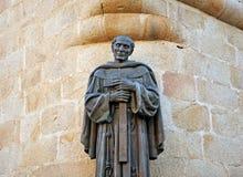 Święty Peter Alcantara, brązowa rzeźba, Caceres, Extremadura, Hiszpania Fotografia Royalty Free