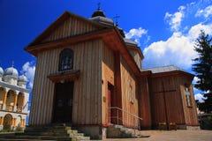 Święty Peter i Paul kościół w Jurowce (Polska, Podkarpackie prowincja) zdjęcia royalty free