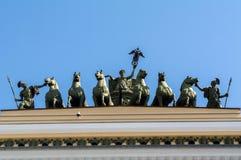 ŚWIĘTY PETERSBURG, CZERWIEC - 05, 2014: szczegółu rydwan chwała na Zdjęcie Stock