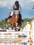 ŚWIĘTY PETERSBURG-JULY 05: Jeździec Gunnar Klettenberg na Lanse S wewnątrz Zdjęcie Stock
