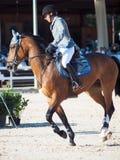 ŚWIĘTY PETERSBURG-JULY 05: Jeździec Gunnar Klettenberg na Lanse S wewnątrz Fotografia Royalty Free