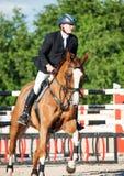 ŚWIĘTY PETERSBURG-JULY 05: Jeździec Kristupas Petraitis na Barichela Zdjęcie Royalty Free