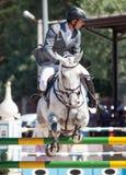 ŚWIĘTY PETERSBURG-JULY 06: Jeździec maksyma Kryna na pretendencie 37 wewnątrz Zdjęcie Royalty Free
