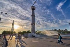 ŚWIĘTY PETERSBURG ROSJA, CZERWIEC, - 01, 2018: Widok parkowy 300th Fotografia Royalty Free