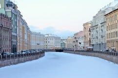 Święty Petersburg, Rosja w zimie Fotografia Stock