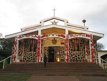 Święty Przecinający kościół w Hanga Roa, Wielkanocna wyspa Chile zdjęcie royalty free