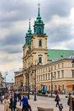 Święty Przecinający kościół w Warszawa fotografia royalty free