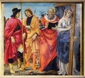 Święty Roch, Sebastian, Jerome i Helena, obrazy royalty free