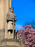 Święty rycerz pozyci strażnik przy Kalwaryjskim cmentarzem - saint louis, MO Zdjęcie Stock
