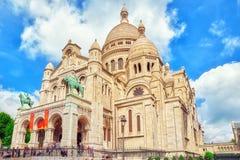 Święty serce także znać Basilique Du Sacre Coeur jest jeden Obraz Stock