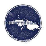Święty Tomasowska wektorowa mapa Obraz Stock