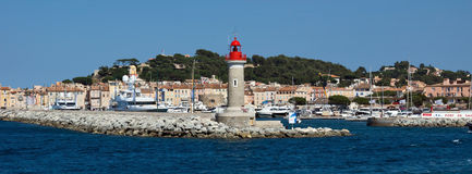 Święty Tropez - latarnia morska Fotografia Royalty Free