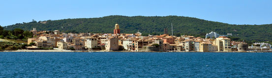 Święty Tropez - Panoramiczny widok Obraz Stock