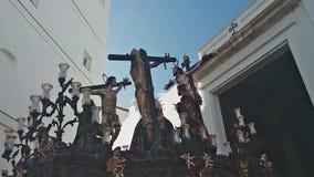 Święty tydzień Cadiz wracają świątynia wizerunki zdjęcie wideo