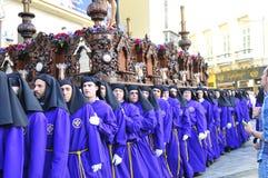 Święty tydzień Malaga Semana Santa Malaga Obrazy Stock