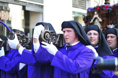 Święty tydzień Malaga Semana Santa Malaga Obraz Stock