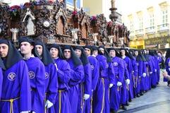 Święty tydzień Malaga Semana Santa Malaga Zdjęcia Stock