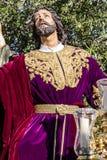 Święty tydzień w San Fernando, Cadiz, Hiszpania Modlitwa Nasz władyka w ogródzie zdjęcie royalty free