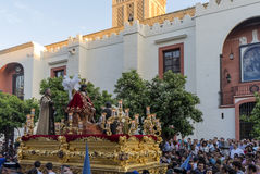 Święty tydzień w Seville, bractwo San Esteban Obraz Stock