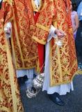 Święty tydzień w Seville, kadzidłowy palnik, Andalusia, Hiszpania Fotografia Royalty Free