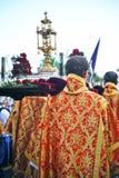 Święty tydzień w Seville, Paso, Andalusia, Hiszpania Zdjęcie Stock